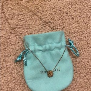 Tiffany & Co twist sterling silver knot necklace